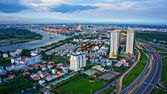 Impression panorama of Ho Chi Minh city — Stock Photo