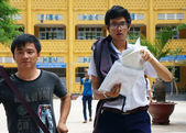 Asian high school student — Stock Photo