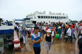 Thanh Thoi ferry boat, Ha Tien, Phu Quoc — Stock Photo