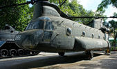 Helicopter at War Remnants Museum — Stock Photo