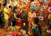 Ho chi Minh lantern street at night — Stock Photo