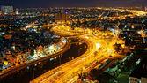 Impression night landscape of Asia city — Stock Photo