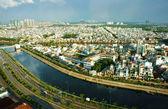 Impression panaromic of Asia city on day — Stock Photo