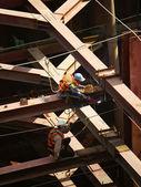Vietnam construction worker working on site — Stock Photo