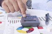 Calculating the financial situation — Stock Photo