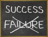 éxito en la pizarra — Foto de Stock