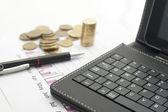 Sprawozdanie finansowe — Zdjęcie stockowe