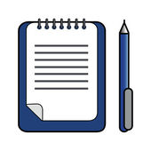 Ballpoint Pen & Clipboard — Foto de Stock