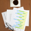 Business Plan & Graph on the Table — Stock Photo