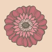 Hand drawn flower, vector — Stock Vector