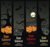 Halloween banners, vector EPS8 — Stock Vector