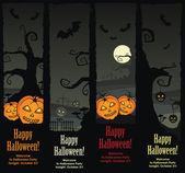 Halloween banners, vector EPS8 — Stock Vector