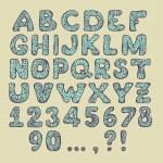 Vector textured hand drawn Alphabet — Stock Vector