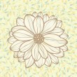Hand drawn flower on seamless pattern background, vector — Stock vektor