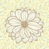 Hand drawn flower on seamless pattern background, vector — Stock Vector