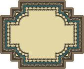 Vector doodle floral decorative frame — Stock Vector