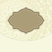 Vettore doodle design sfondo floreale cornice decorativa — Vettoriale Stock