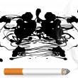 Stock Vector: Burning cigarette