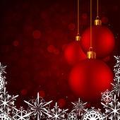 Weihnachtskarte-kugeln — Stockvektor