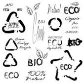 Eco bio signs — Stock Vector