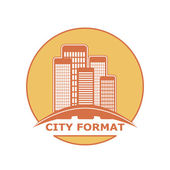 City format logo — Stock Vector