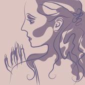 красивая девочка — Cтоковый вектор