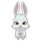 Bunny with big eyes — Stock Vector