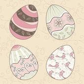 Cartão de páscoa com ovos coloridos — Vetorial Stock