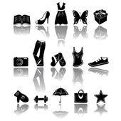 Accessory & clothes icons — Stockvektor