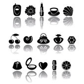 Accessory icons — Stock Vector