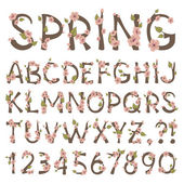 Spring Alphabet — Vector de stock