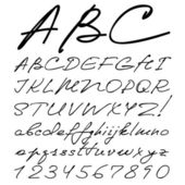 Real hand-alphabet — Stockvektor