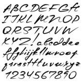 Alfabeto calligrafico — Vettoriale Stock