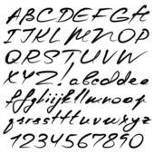 Kalligraphische alphabet — Stockvektor