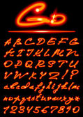 Fire transparent Alphabet — Stockvector