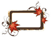 Grunge autumn frame — Vector de stock