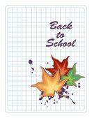 Back to school placard — Vector de stock