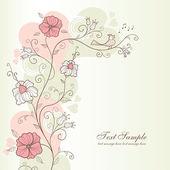 Progettazione di primavera con fiori — Vettoriale Stock