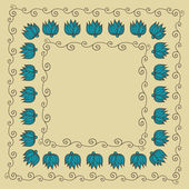 Floral decorative frame — Vector de stock