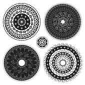 éléments de conception de cercle — Vecteur