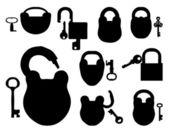 Con las llaves del candado — Vector de stock