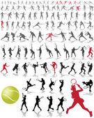 Tennis players — Stock Vector