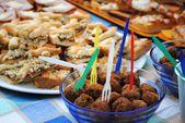 Italian buffet — Stock Photo