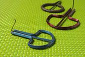 Three colored harp metal — Stock Photo