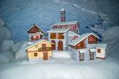Huis snowly — Stockfoto