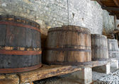 Old wooden barrels — Stock Photo