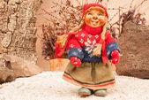 Traditional Norwegian doll — Stock Photo