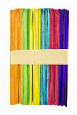 Colourful wooden ice cream stick — Foto de Stock