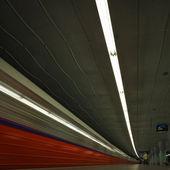 De race met licht — Stockfoto