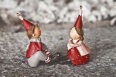 Cute christmas puppets — Stock Photo